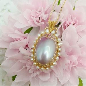14K Mabe Pearl necklace
